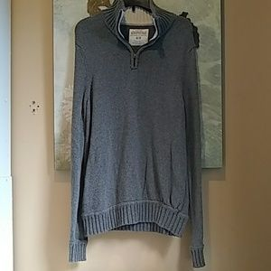 Aeropostale Grey 1/4 Zip Knit Pull Over Size M